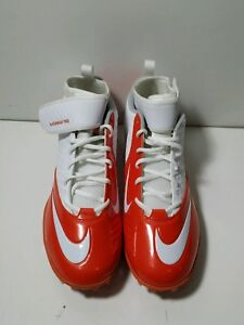 22fe22236 NEW Nike Lunar Superbad Pro Football Lacrosse Cleats White   Orange ...