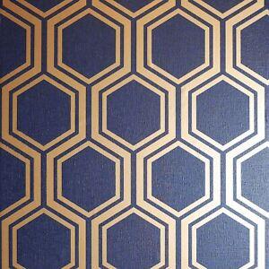 Marine-Dore-Luxe-Haxagon-Papier-Peint-par-arthouse-906604-Geometrique-Metal