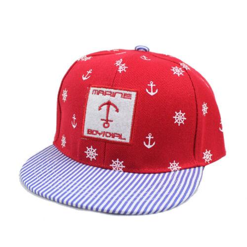 New Boy Girl Adjustable Sailor Baseball Cap Kids Snapback Children Child Sun Hat