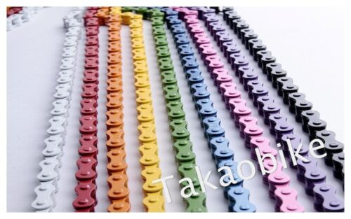 New YBN Single Speed Color Chain for Track Fixie Fixed Gear Bicycle Bike  Yellow