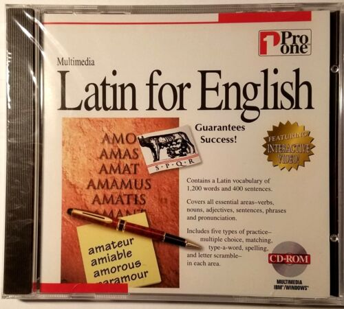 LATIN FOR ENGLISH  PRO ONE MULTIMEDIA BRAND NEW SEALED SHIPS FREE AND SHIPS FAST