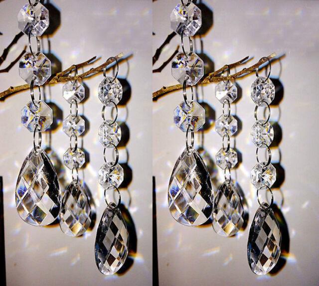 10//30//60PCS Acrylic Crystal Bead Garland Chandelier Hanging Wedding Party Decor