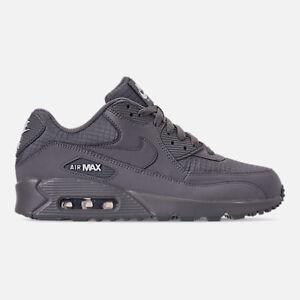 Men-039-s-Nike-Air-Max-90-Essential-Running-Cool-Gris-Blanc-8-13-New-in-Box-AJ1285-017