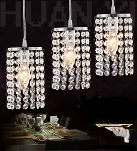 led crystal ceiling pendant lamp light dining room chandelier