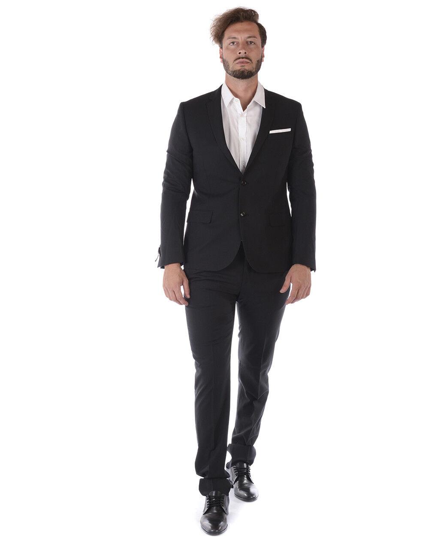 Abito Daniele Alessandrini Suit Lana  Herren Nero A030N6583706 A030N6583706 1