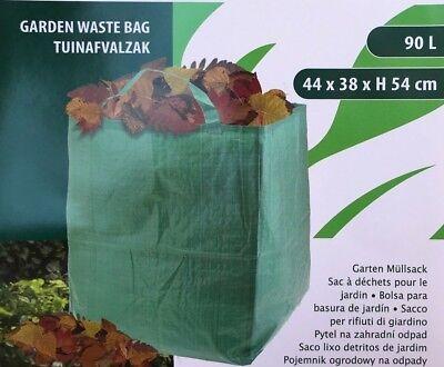 1 / 2 / 5 / 10 X Laubsack Für Gartenabfälle Laub Müll Abfall Sack Gartensack 90l