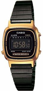 Casio-LA-670WEGB-1B-Orologio-Donna-polso-Vintage-Nuovo-Crono-Sveglia