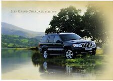 Jeep Grand Cherokee Platinum Limited Edition 2004 UK Market Sales Brochure