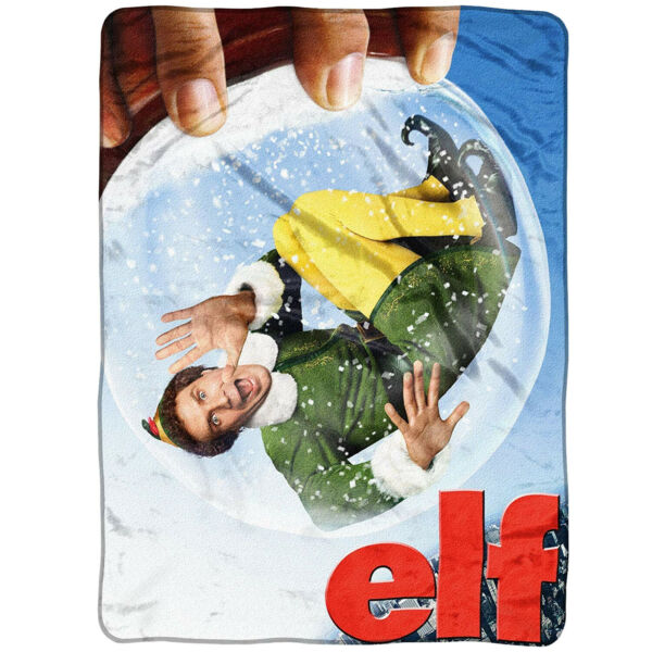 "New Buddy The Elf In A Globe Micro Throw Blanket 46"" X 60"" Voldoende Aanbod"