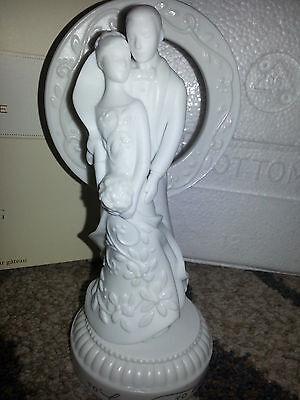 Hallmark WEDDING CAKE TOPPER Bride & Groom Figurine ANNIVERSARY GIFT Porcelain