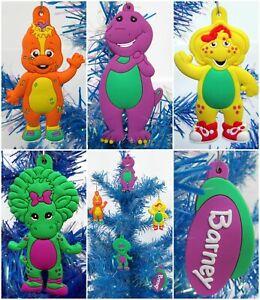 Barney, BJ, Baby Bop, Riff and Friends 5 Piece Dinosaur Christmas Ornament Set