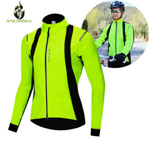 Winter-Cycling-Jacket-Thermal-Fleece-Warm-Jersey-Bike-Bicycle-Sports-Windproof