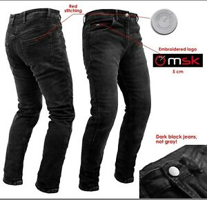 Jeans Moto Pantaloni Protecioni Omologate CE Ginocchia Rinforzi Fianchi Neri