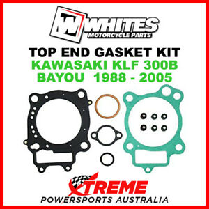 Whites-Kawasaki-KLF300B-KLF-300B-Bayou-1988-2005-Top-End-Rebuild-Gasket-Kit