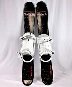 Snowblades-90cm-FiveForty-WIDE-Ski-Blades-FiveForty-Bindings