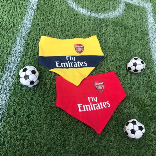 Arsenal FC official Football Club Kit 2pk gift baby Bib dribble bib Set AFC902