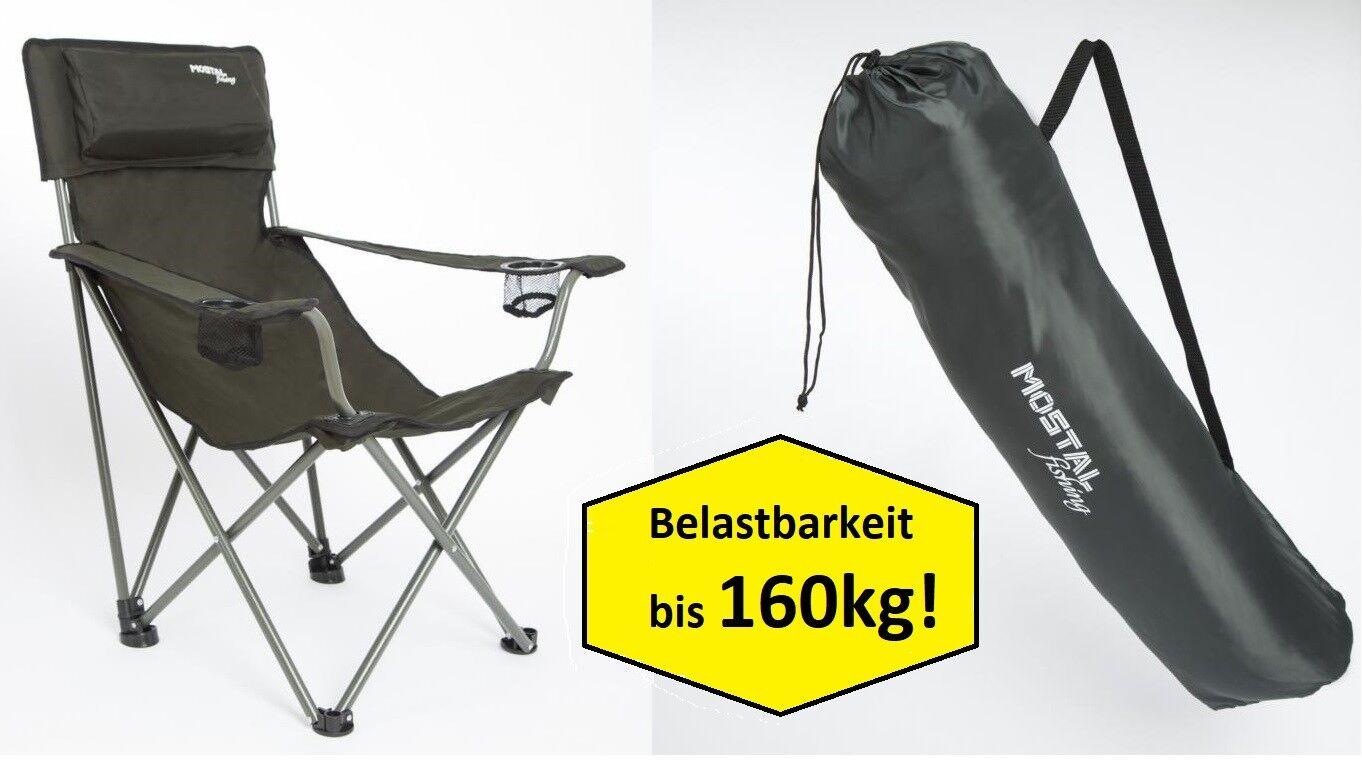 Mostal Faltstuhl Klappstuhl mit Getränkehalter Campingstuhl Angelstuhl Stuhl