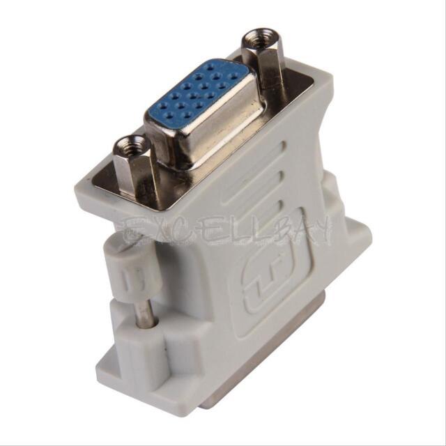 DVI-I Male 24+5 Pin to VGA Female Adapter Video Converter New E0Xc