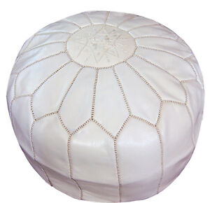 Image Is Loading Pouf Moroccan Hassock Pooff Leather Genuine Pouff Ottoman