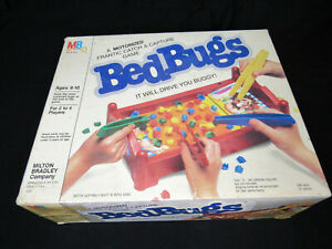 1985 Bed Bugs Game by Milton Bradley; Incomplete; For Parts Restoration Only