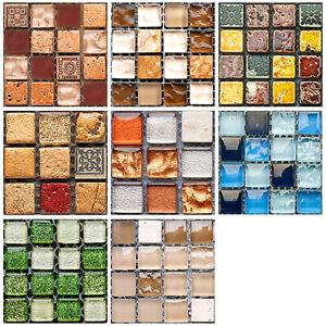 19pcs-3D-Self-Adhesive-Square-Tile-Floor-Wall-Sticker-Mosaic-Decal-Home-Decor-AU