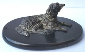 Periods & Styles New Fashion Paperweight Figure Dog Silver Marble Base France/switzerland Um 1900 Al840 An Enriches And Nutrient For The Liver And Kidney