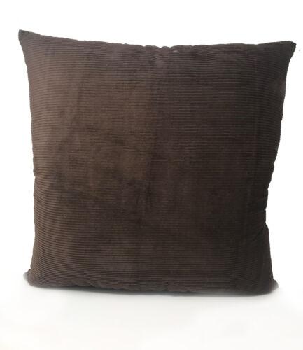 Marron Chocolat cordon euro carré 55 cm x 55 cm Coussin avec rebondir Remplissage