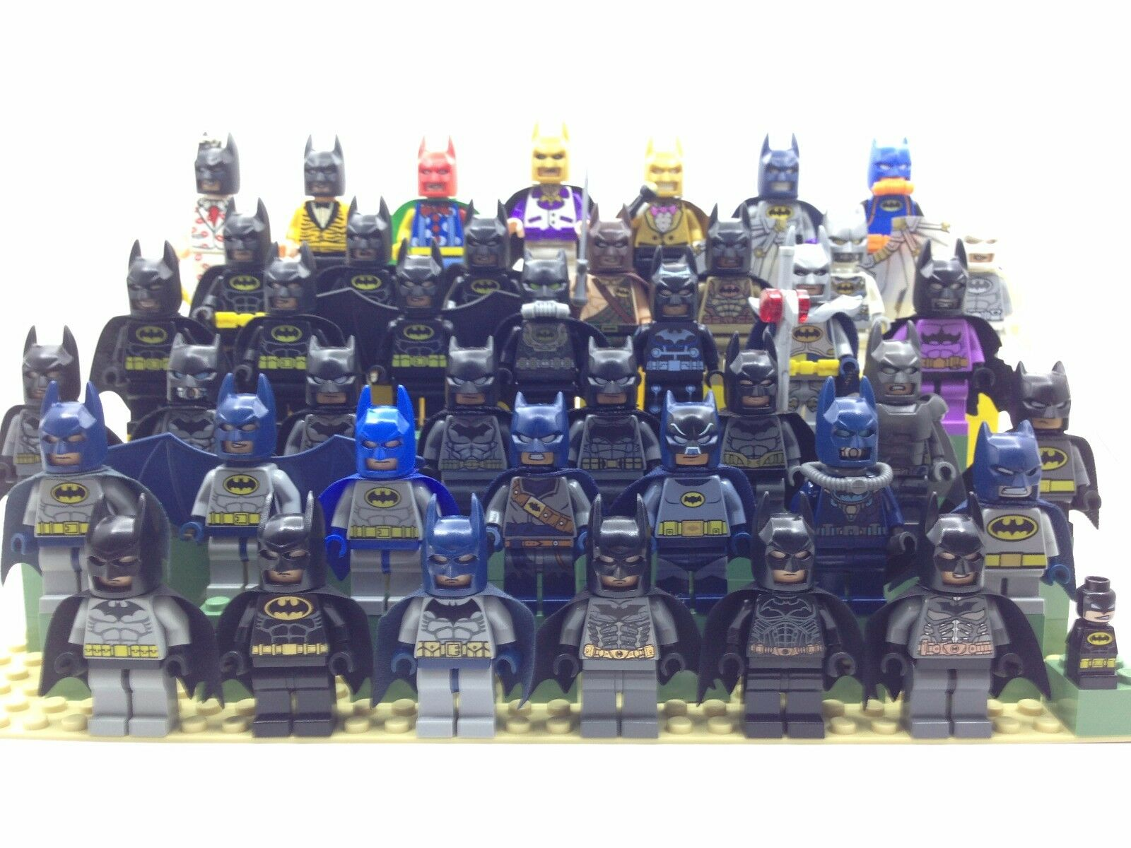 Lego DC Super Heroes The Batman Movie - 43x Lot Batman Batzarro Minifigure - Nuovo
