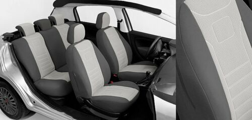 Audi A3 8L A3 8P Maßgefertigte Velours Sitzbezüge VGP1 GRAU Autositzbezüge