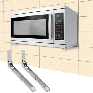 Details About Stainless Steel Microwave Oven Bracket Sy Foldable Stretch Wall Mount Shelf