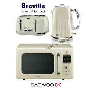 Breville Impressions Cream Kettle And Toaster Set Amp Daewoo