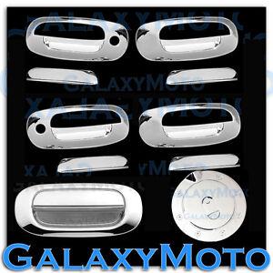 Chrome-4-Door-Handle-W-PSG-Keyhole-Tailgate-Gas-cover-for-97-04-Dodge-Dakota