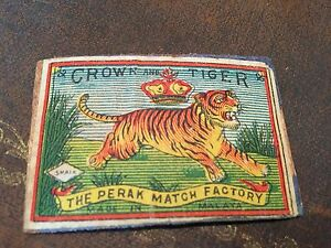 old-match-box-top-crown-and-tiger