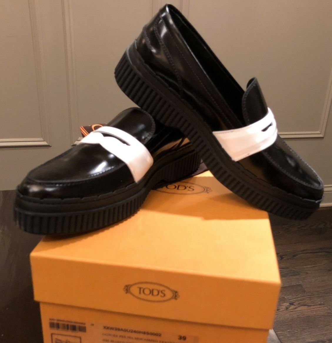 Celine Skate Perforated Scarpe da Leather Ginnastica Slip On Patent Leather da Nero 41/ 10.5 $950 NIB 70096d