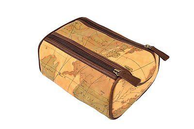 Danielle Creation Milano Large Framed Top Zip Wash Bag for Men 8815