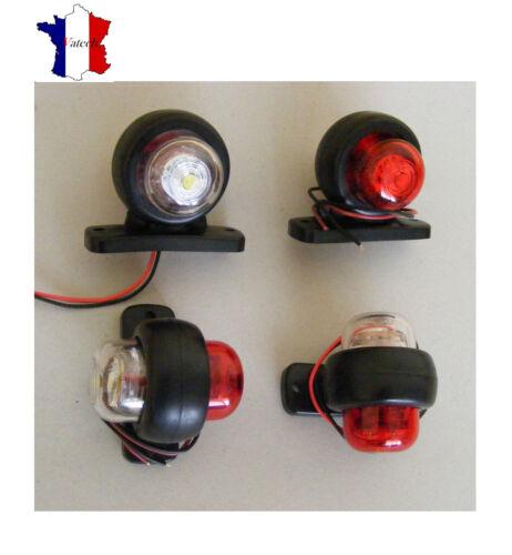 4 X24V ROUGE BLANC FEUX DE GABARIT LED SMD CAOUTCHOUC POUR RENAULT IVECO PEUGEOT