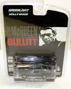 Greenlight-1-64-Scale-1968-Ford-Mustang-GT-Green-Steve-McQueen-Bullitt-Model-Car