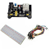 MB-102 830 Point Solderless PCB Breadboard+Power Supply+65pcs Jump Cable Wires e