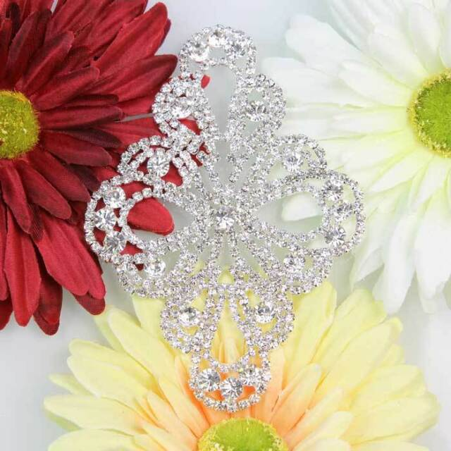 New Handmade A Grade Rhinestone Crystal Sewing Applique Trim Headband DIY 1PC