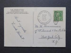 US-1937-SS-Manhattan-Postcard-Paquebot-Cancel-Z7948