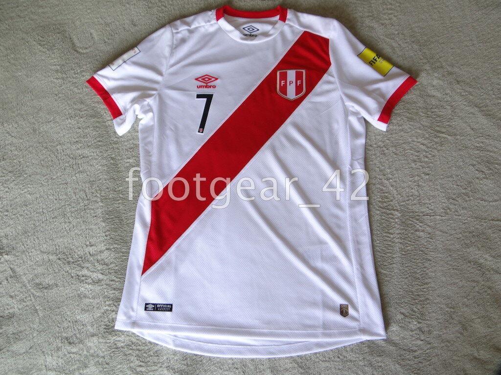 Oficial Auténtico Perú Paolo Hurtado Fútbol Jersey Camisa de Rusia 2017 2018 Kit