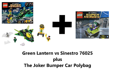 LEGO 76025 GREEN LANTERN VS SINESTRO LOOSE NO MINIS  SHIP Only NEW