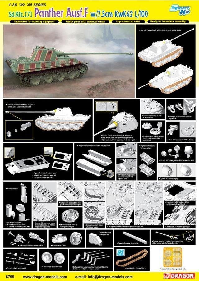 Dragon 1 35 6799 Sd.Kfz.171 Panther Ausf.F w 7.5cm KwK42 L 100
