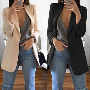 Hot-Women-Casual-Mid-Long-Trench-Coat-Fashion-Lapel-Slim-Cardigan-Outdoor-Jacket