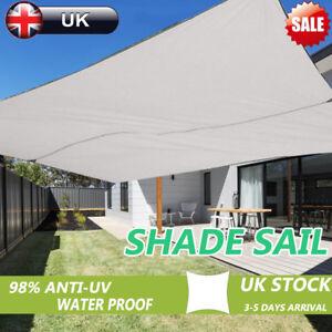 Image Is Loading Large Sun Shade Sail Canopy Screen Garden
