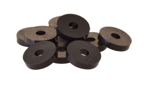 10 x Unterlegscheibe, 20 x 6 x 4mm, Nylon, schwarz