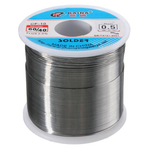 60//40 0.5MM 500g Tin lead Flux 2/% Solder Wire Rosin Core Soldering Welding L