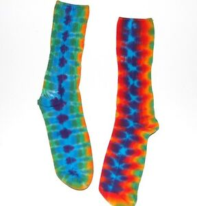 f81d62dbebe29 Details about Kid's Tie Dye Bamboo Socks Rainbow DNA Youth Socks Hippie art