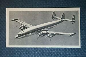 LOCKHEED SUPER CONSTELLATION  Airliner  Original 1960 Photo Card