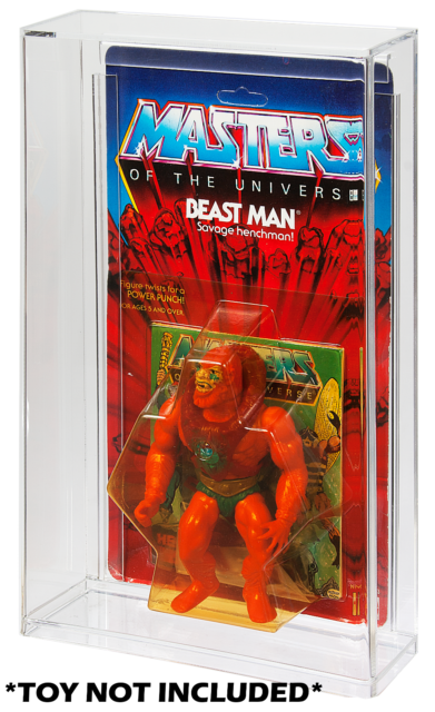 """10 x HE MAN MASTERS OF THE UNIVERSE  DISPLAY CASES 3.75/"""" Action Figure"""